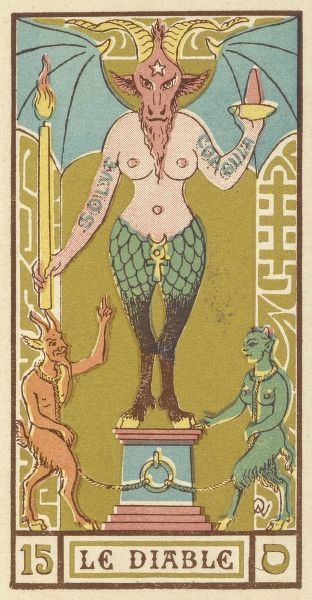 The Devil as depicted on a Tarot card