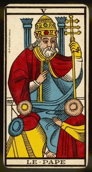 Tarot Card 5 - Le Pape (The Pope)