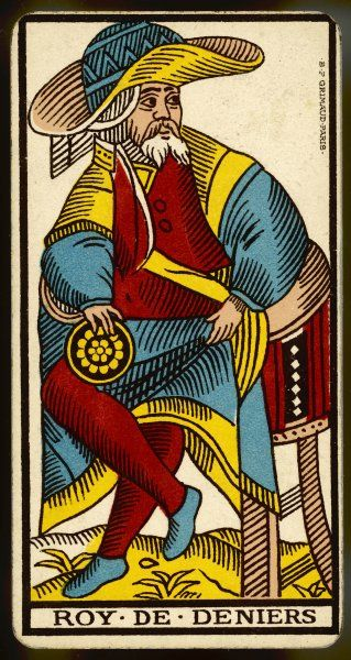 Tarot Card - Roy de Deniers (King of Coins)