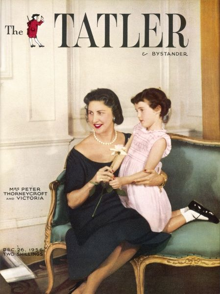 Tatler cover featuring Mrs Peter Thorneycroft, the wife of the Rt