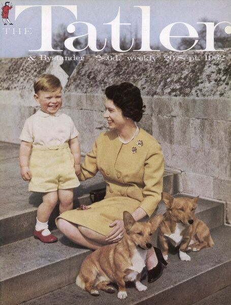 The Tatler front cover featuring a photograph of the Queen Elizabeth II with her son Prince Andrew, taken in September 1962