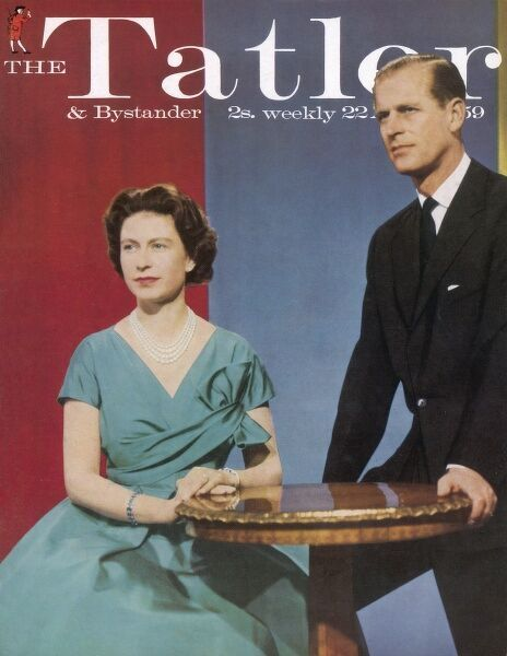 The Tatler front cover featuring a photograph of Queen Elizabeth II and her husband, Prince Philip, Duke of Edinburgh taken in 1959