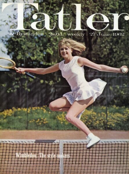 Front cover of The Tatler, reporting on Wimbledon Tennis Championship for 1962 and particularly tennis fashions