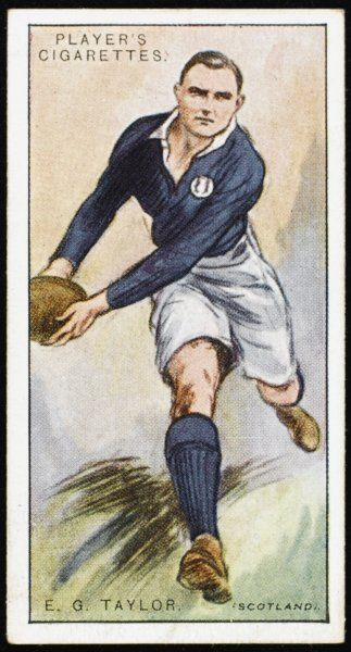 E G Taylor, player for Oxford and Scotland