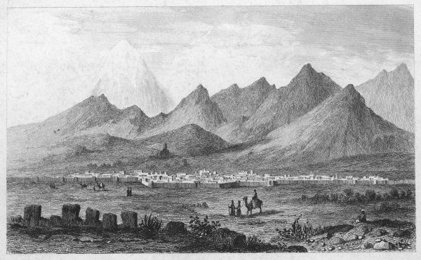General view of the Persian capital in the nineteenth century, showing the neighbouring mountains