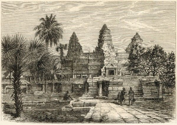 The western facade of the Temple of Ongou Wat (Angkor Wat), Cambodia