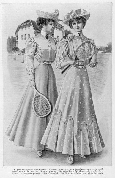 Two young ladies, suitably dressed for a game