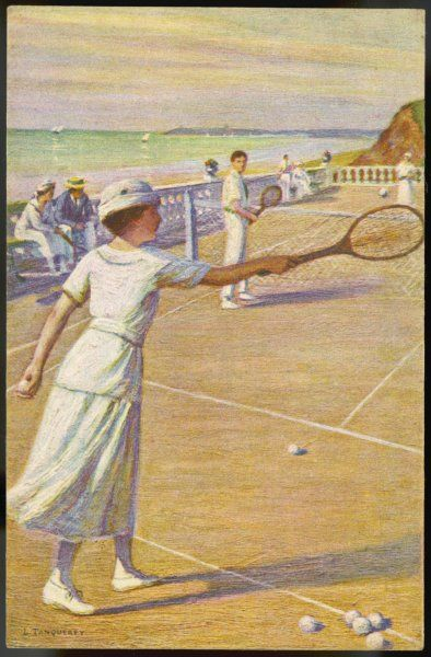 Mixed doubles by the sea