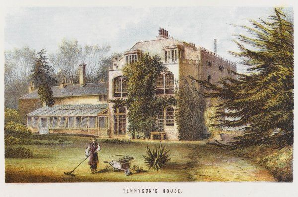 Tennyson's home at Faringford, near Freshwater on the Isle of Wight