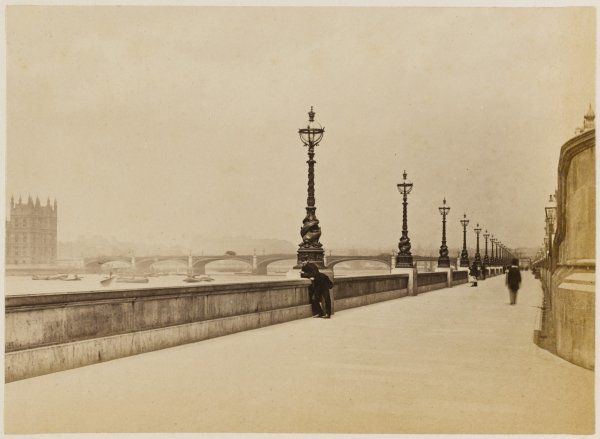 The Thames Embankment, looking towards Westminster Bridge