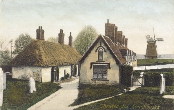 Thaxted, Essex: old almshouses