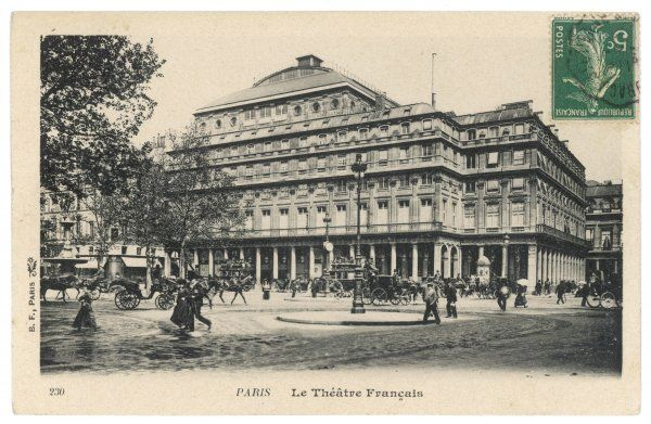 An exterior view of the Theatre Francais