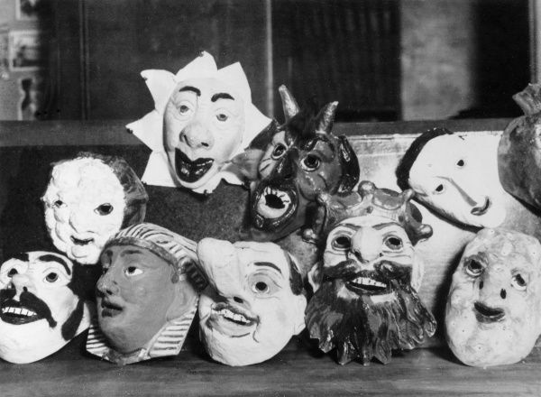 Theatrical masks. Date: 1930s