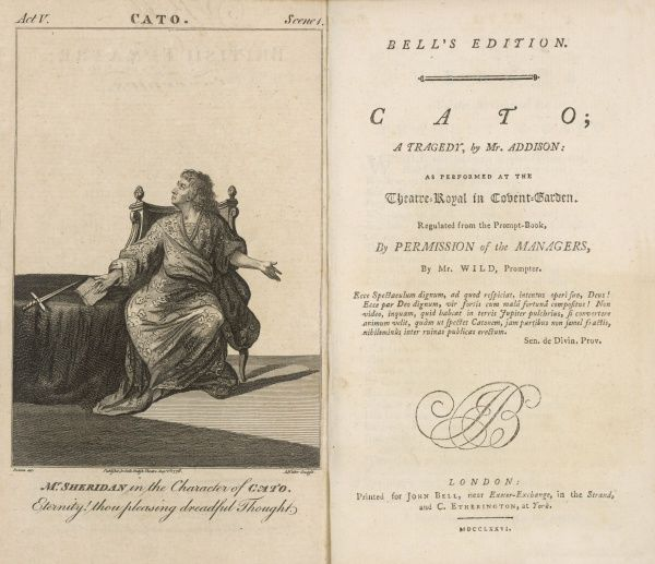 'CATO' by Joseph Addison - Mr Sheridan in the character of Cato