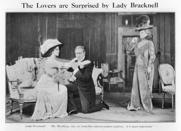 'THE IMPORTANCE OF BEING EARNEST' George Alexander as Jack Worthing, Stella Patrick Campbell as Lady Gwendolen, Helen Rous as Lady Bracknell