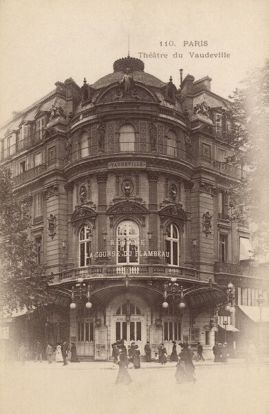 Theatre de Vaudeville, Paris, France Date: circa 1900