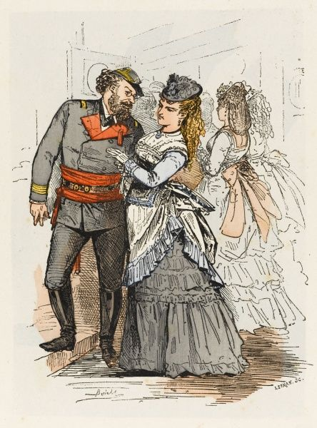 Theatregoers - a girl likes to be seen in the company of a hero of the revolution