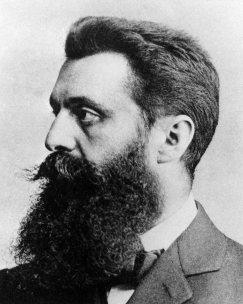 Theodor Herzl (born Benjamin Zeev Herzl, 1860-1904), Austro-Hungarian journalist and the founder of modern political Zionism. Date: circa late 19th century