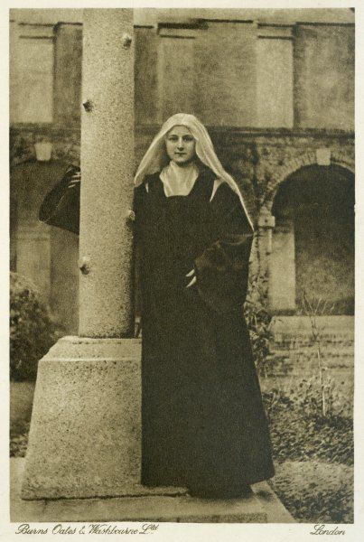 THERESE MARTIN as a Carmelite novice, in the nunnery at Lisieux circa 1890