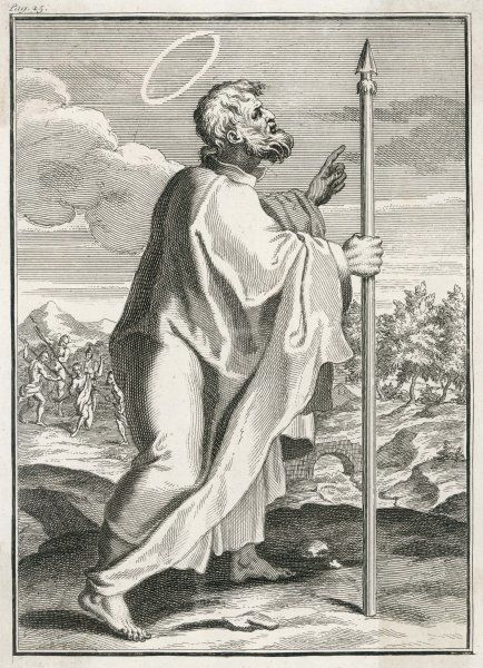 THOMAS DIDYMUS is famous for doubting the resurrection of Jesus ; later he went as a missionary to Parthia and India, where he was pierced with lances near Madras