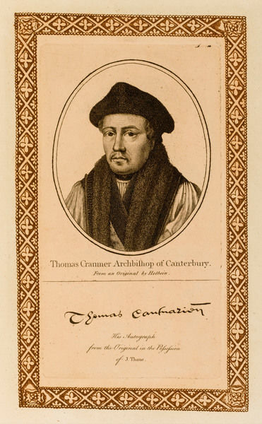 THOMAS CRANMER churchman, archbishop of Canterbury with his autograph