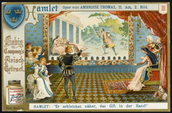 Act 2: Hamlet's choice of evening entertainment alarms his mother. Date: first performed 1868