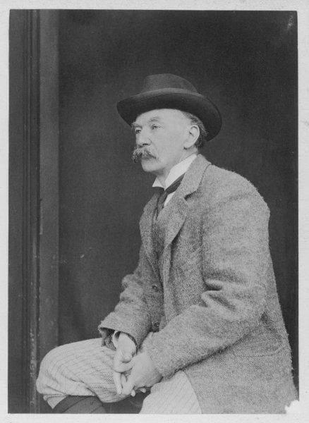 THOMAS HARDY Thomas Hardy, seated in profile at his home in Max Gate
