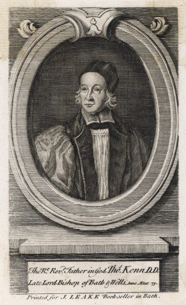 THOMAS KEN Bishop of Bath and Wells, and writer of hymns, at the age of 73