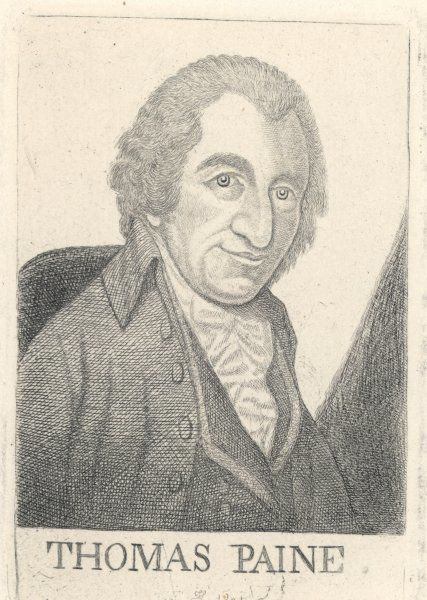 THOMAS PAINE Radical writer, born in England, emigrated to America in 1774 where he urged declaration of independence