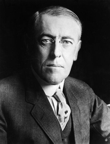 Thomas Woodrow Wilson (1856-1924), 28th President of the United States. Date: circa 1916