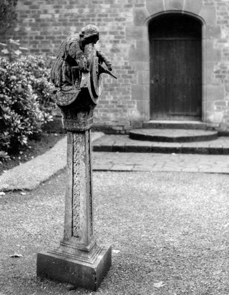 An ancient sundial in the grounds of Thornton House, the Wirral, Merseyside, the residence of Lord Leverhulme. Date