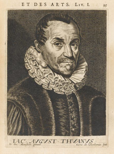 JACQUES AUGUSTE DE THOU French magistrate and historian