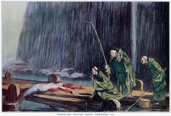 Three monks go fishing, but they get more than they bargained for.  1927