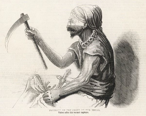Chief of the Thugs, captured by Captain Vallancey in Arcot disguised as a traveller's escort