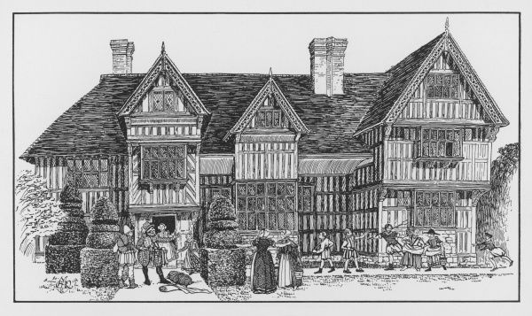 An Elizabethan timber-framed house