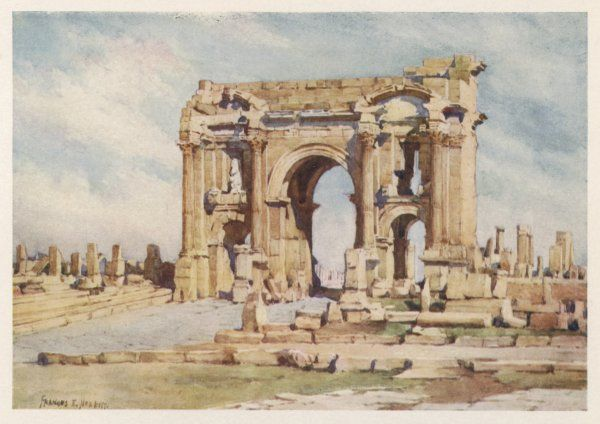 The Roman ruins at Timgad are some of the finest in Africa. This is the Arch of Trajan