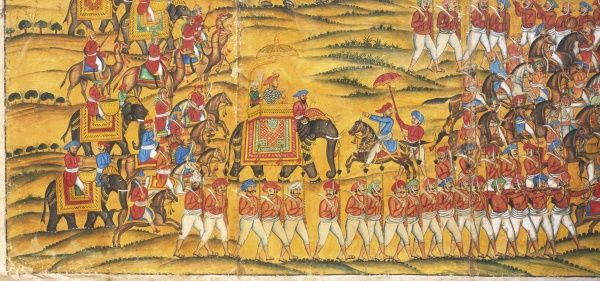 TIPU SULTAN (TIPPU SAHIP) Sultan of Mysore Son of Hyder Ali - fought against Marathas - pictured here at Pollilur in 1780 defeating British under Baille