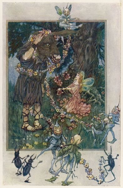 Act III, Scene I Titania awakens and first sees Bottom Date: 1911