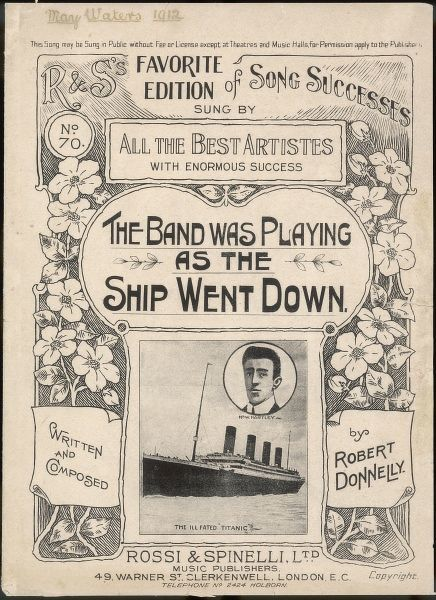 'The Band Was Playing As The Ship Went Down'. Written and composed by Robert Donnelly. Music cover inspired by the ill fated passenger ship