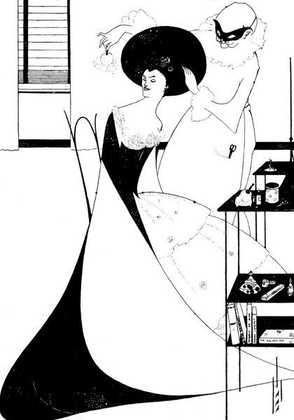 The Toilette of Salome (Second Version). An illustration from 'Salome' by Oscar Wilde, 1894. Aubrey Beardsley (1872-1898)