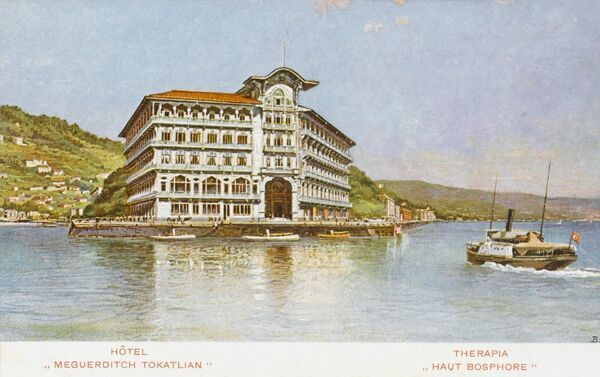 The Tokatlian Hotel at Therapia on the Bosphorus, run by an Armenian. Tarabya (Therapia) - world famous for aromatic raspberries, restaurants, hotels. Also the site of the former British Consulate - who still own a garden there