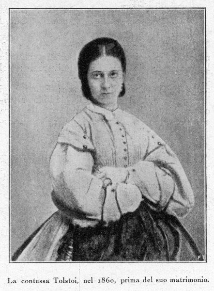 SOFYA ANDREEVNA (nee Behrs) countess TOLSTOY, the writer's wife in 1860, before their marriage