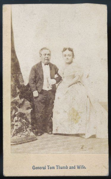 TOM THUMB and LAVINIA WARREN on their wedding day