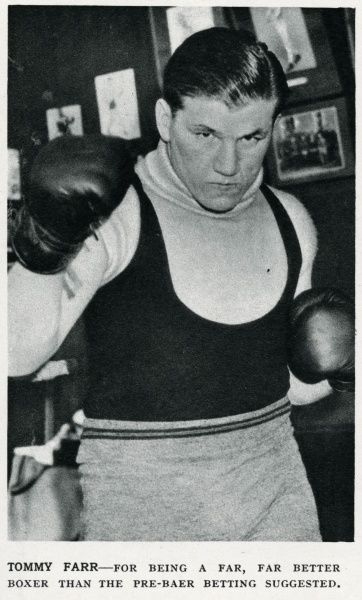 Tommy Farr (1914 - 1986) born in Clydach Vale, Wales, heavyweight boxer Date: 1937