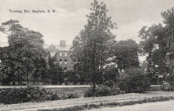The Tooting Bec Asylum, at Tooting Graveney (then in Surrey, now in south west London), was erected in 1899-1903 by the Metropolitan Asylums Board