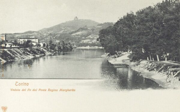 Torino (Turin), Italy - The River Po as seen from the Ponte Regina Margherita Date: circa 1904