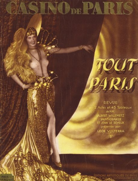 Cover for souvenir brochure for Tout Paris at the Casino de Paris, Paris, 1928