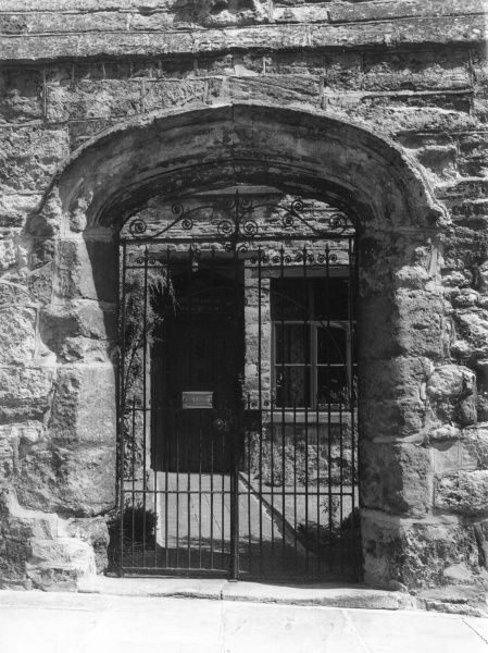 The entrance to Chantry House, Towcester, Northamptonshire, England, founded by Archdeacon Spence. Date: early 12th century