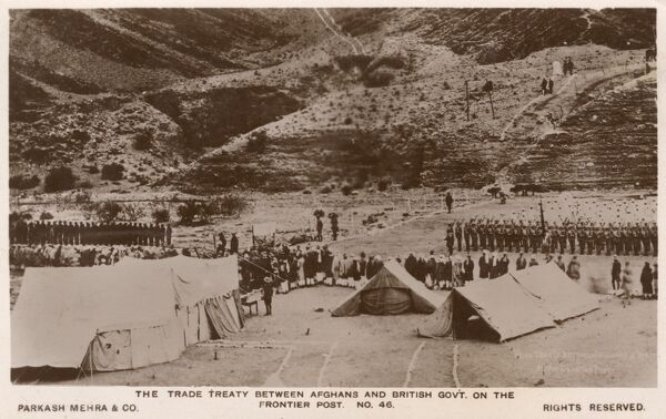 North West Frontier Province - Trade Treaty between British and Afghan Governments at the Frontier Post
