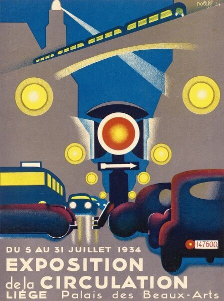 Poster for the EXPOSITION DE LA CIRCULATION held at Liege, Belgium